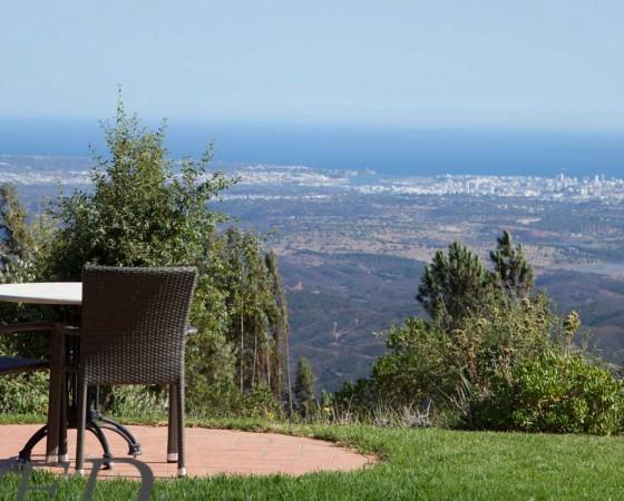 Ligging Monchique, uitzicht Algarve